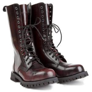 Boots Cuir Bordeaux