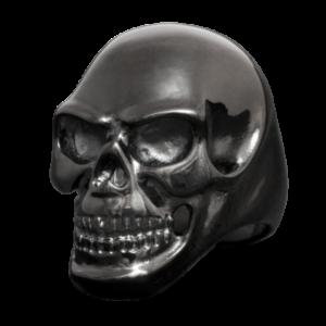 Bague Crâne Noir