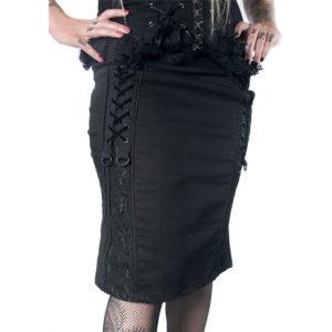 Jupe Courte Style Gothique Dark Noire