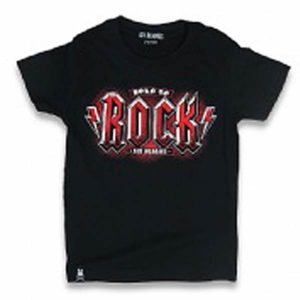T-shirt Noir Enfant Born to Rock