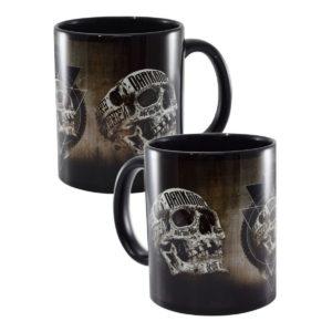 Mug Inked Skull Noir en Céramique