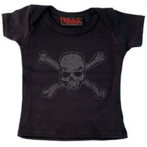 t-shirt bébé distressed skull