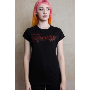 T-shirt Girly Death Logo Détourné Darkside