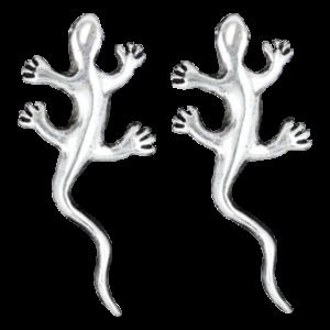 Boucles pour Oreilles Lézards Argent