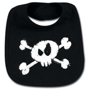 bavoir splashed skull