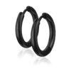anneaux pour oreilles noirs 14mm