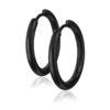 anneaux pour oreilles noirs 16mm