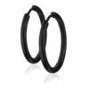 anneaux pour oreilles noirs 20mm