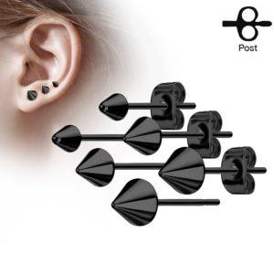 clous pour oreilles cônes