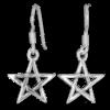 boucles pour oreilles pentagramme