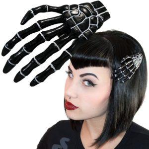 grande barrette main de squelette